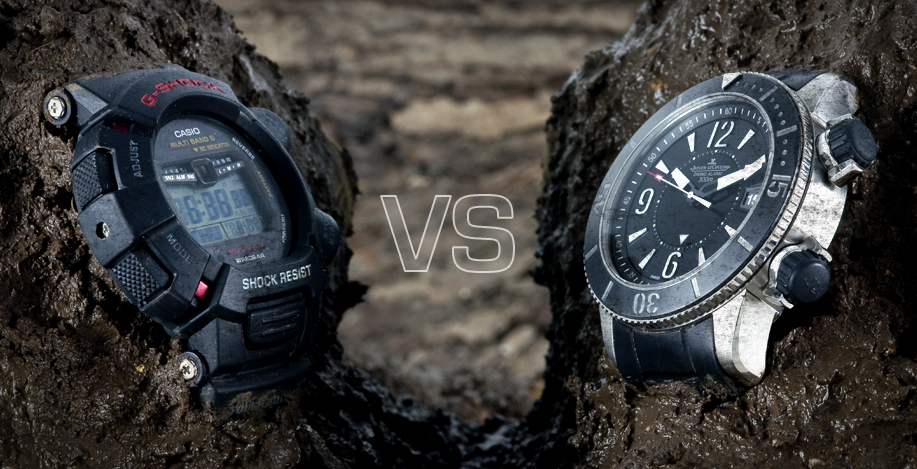 G shock vs jlc navy seals urr ok for Watches navy seals use
